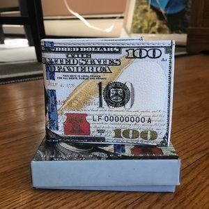 Men's leather money wallet, NIB